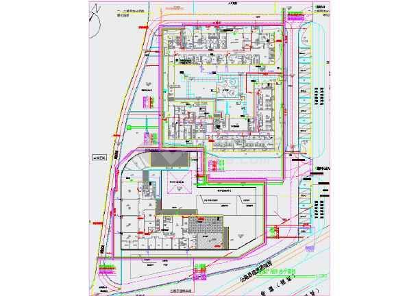 某儿童福利院避灾广场管线综合图纸