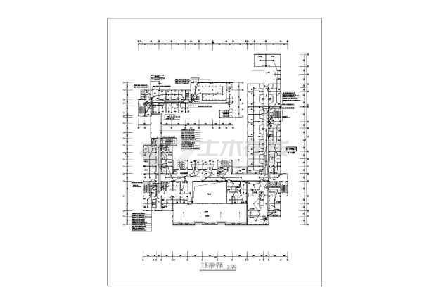 某16085地上六层医院消防图纸v医院图纸名词解释市政电气的图片