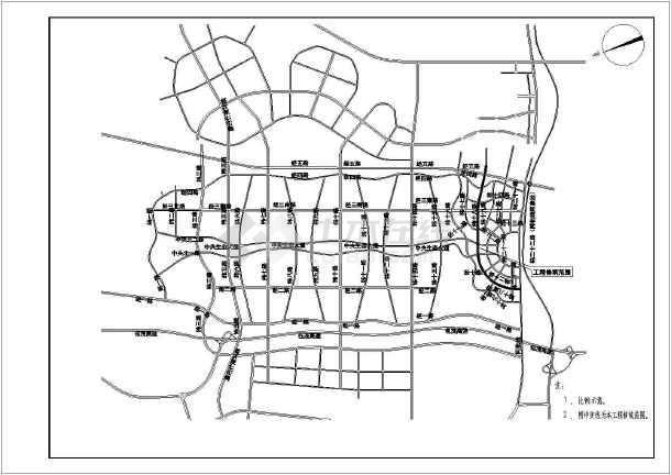 [内蒙古]市政给水管道设计施工图(给水中水)