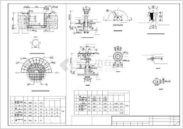 某800立方圆形水池结构图纸(含设计说明)
