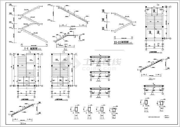 昆明某学校4层砖混公寓结构设计图