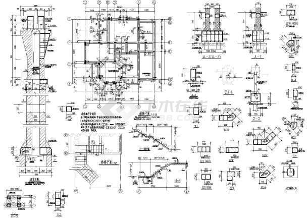 某两层欧式全套小镇建筑结构设计施工图别墅别墅苏黎士提香图片