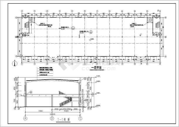 贵州某18米跨二层厂房结构设计图(7度抗震)