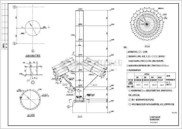 某水渣沟平台及渣沟烟囱框架结构设计图(独立基础)