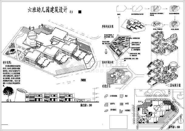 1902平方米北方六班幼儿园建筑设计方案(课程作业)图片