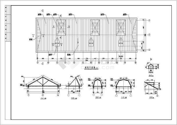 地上一层平改坡结构设计图(条形基础,共10张图)