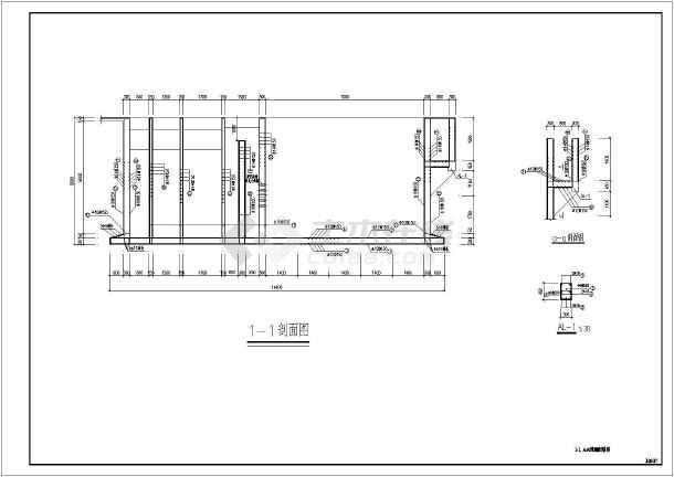 污水处理厂混凝沉淀池结构图纸(含设计说明)图片