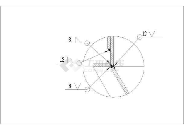 100吨料仓结构设计图(钢结构,共3张图)