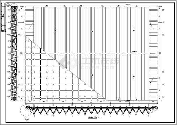 【广西】球馆空间网架结构设计施工图
