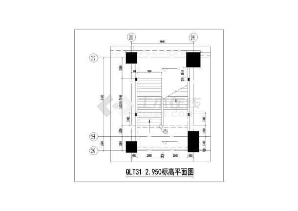 某房地产项目后加钢楼梯结构设计图(独立基础,共12张)