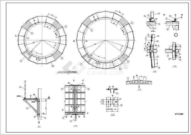 某120米钢筋混凝土烟囱设计图(7度抗震)