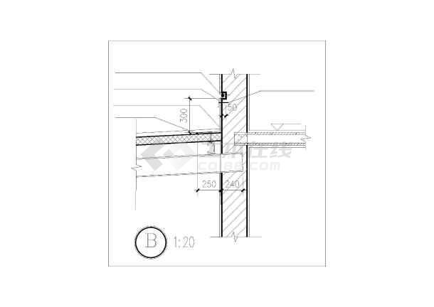 四层浴室改造结构设计图(含设计说明,共3张图)