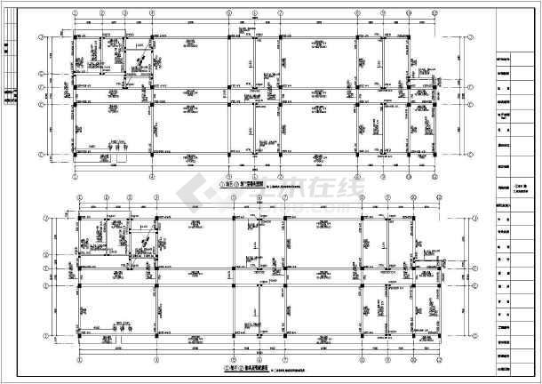 新疆某地上四层框架结构实验楼结构设计图(独立基础)图片