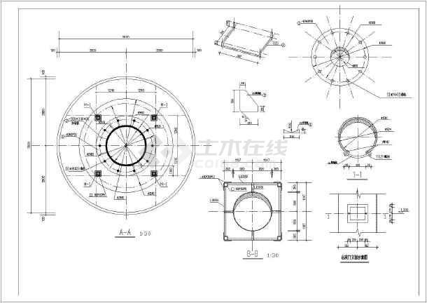 某40米钢烟囱结构设计图