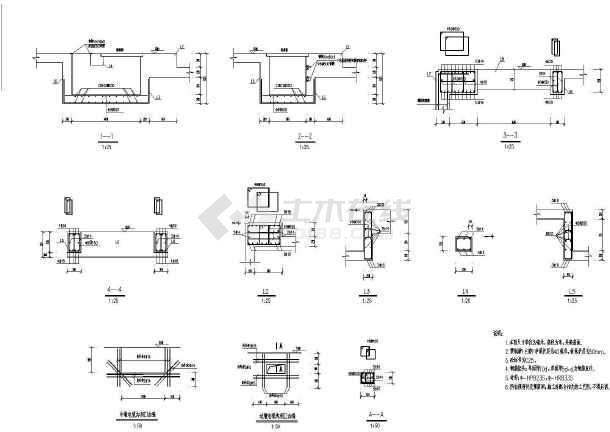 南京江宁某砌体结构雨水泵站图纸(7度抗震)图片