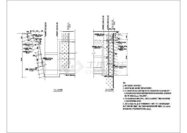 某地铁车站主体围护结构设计图(桩基础)图片