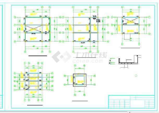 某八层框架结构消防训练塔结构设计施工图
