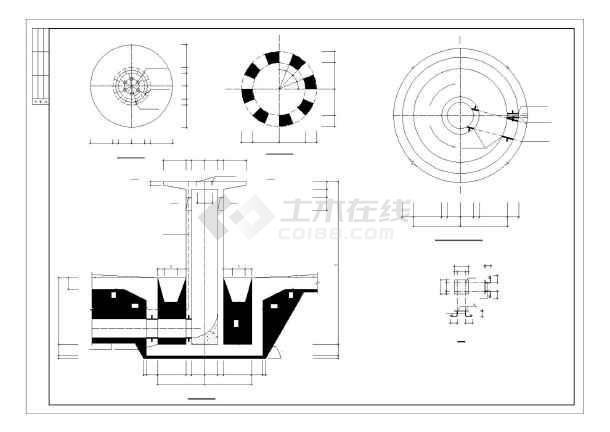 某圆形水池结构设计图(混凝土结构,共12张)