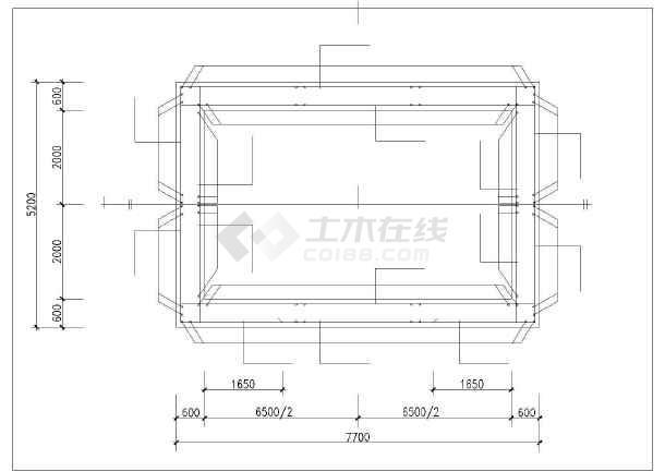 某矩形工作井结构设计图