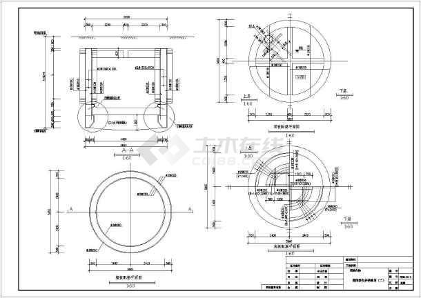某圆形接收井结构设计图