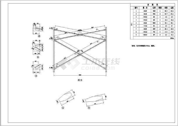 带吊车钢结构厂房结构设计施工图(独立基础)