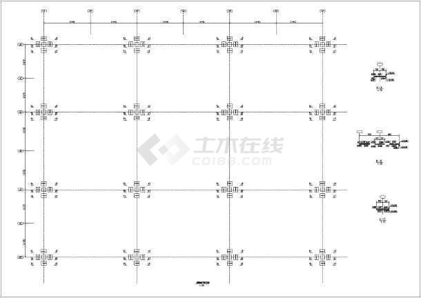 某空冷岛钢结构机组图纸