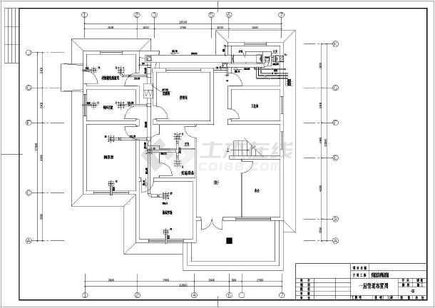某药厂实验室及动物房改造工程净化空调设计图图片