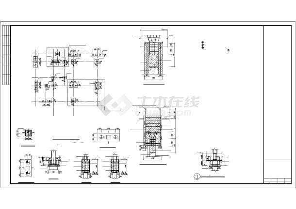 三栋四层框架结构带地下室小别墅结构图