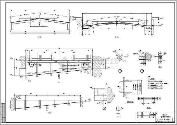 某薄板坯连铸连轧工程二冷室钢结构深化设计图纸