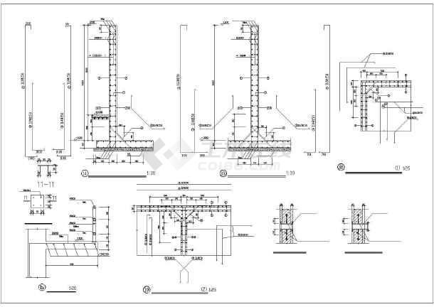 某hrb335水池建筑结构图