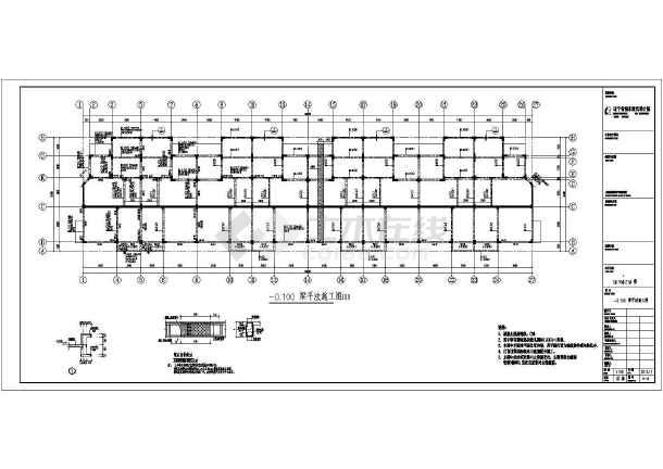 [辽宁]二层异形柱框架结构别墅结构施工图(二层坡屋面