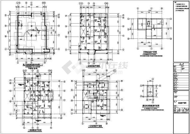 某11万㎡三层花园别墅结构图(独立基础,桩基础)