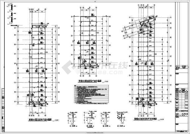 【青海】地上单层框架结构商铺结构设计施工图