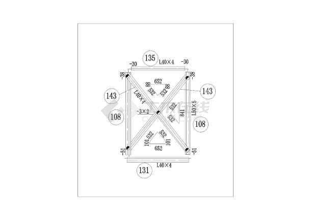 某电力塔结构设计图(共13张图,钢结构)