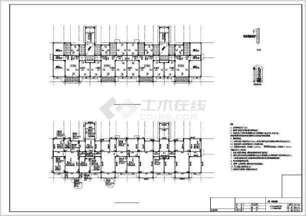 [山东]地上61层异形柱框架结构安置楼房结构施工图(含