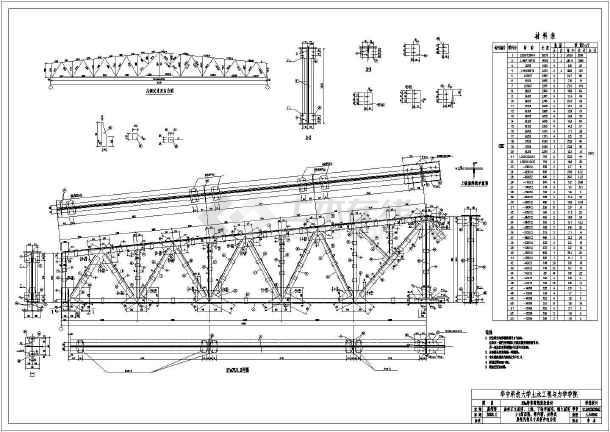 钢结构钢屋架课程设计图纸(毕业设计)