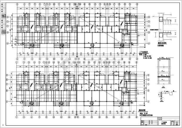 基础大样图,储藏层结构图,梁结构图