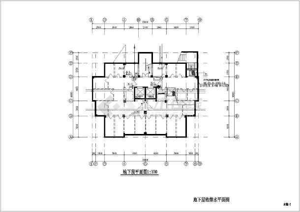 某地上十五层普通住宅楼给排水施工图(含设计制造风扇扇叶图纸三叶图片