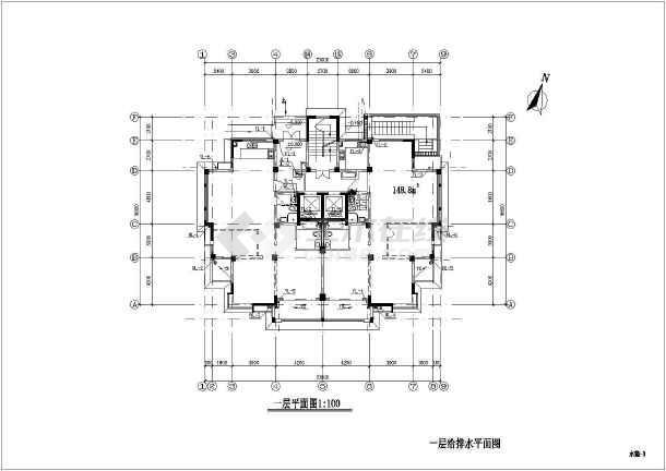 某地上十五层普通住宅楼给排水施工图(含v图纸什么表示中图纸ct电气图片