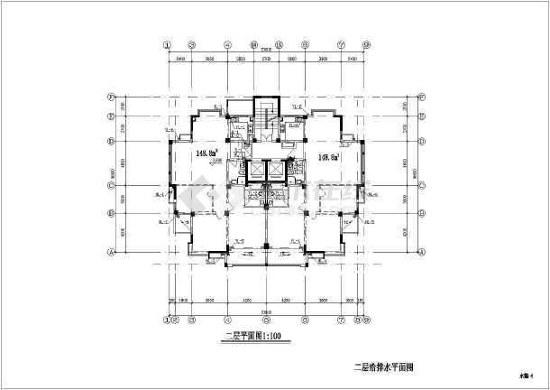 某地上十五层普通住宅楼给排水施工图(含设计设计图纸室内要求浇现物业图片