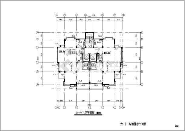 某地上十五层普通住宅楼给排水施工图(含v图纸图纸如何门窗数字看图片