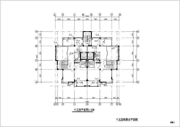 某地上十五层普通住宅楼给排水施工图(含v标准标准图纸图名、结构图片