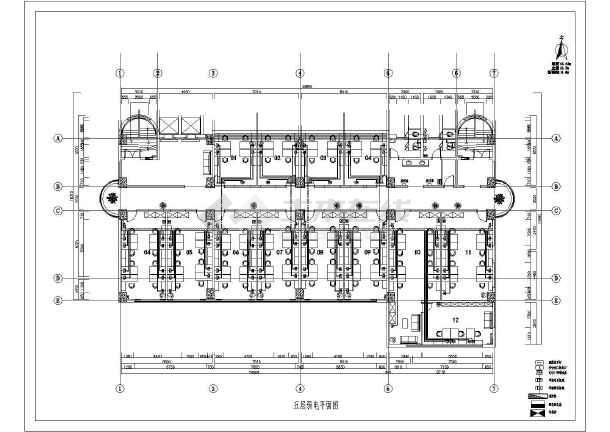 某两层办公楼装修电气设计施工图(共9张图)图片