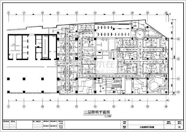 某三层ktv工程电气设计cad图纸图片