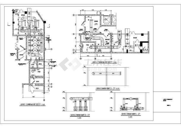 某市15层安置房暖通v暖通图纸92082065三通度斜图纸径异展开图片