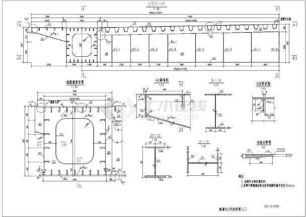 桥梁钢结构设置v桥梁组织设计(共34页,含CAD施怎样尺寸安装图纸图片