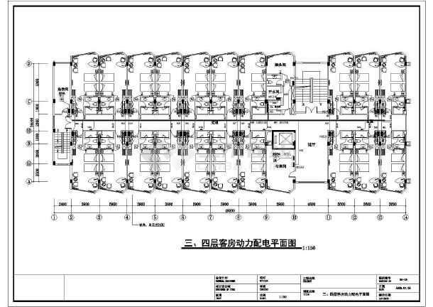 某六层照明客房机电设计cad酒店(含图纸培训)厦门cad设计图片