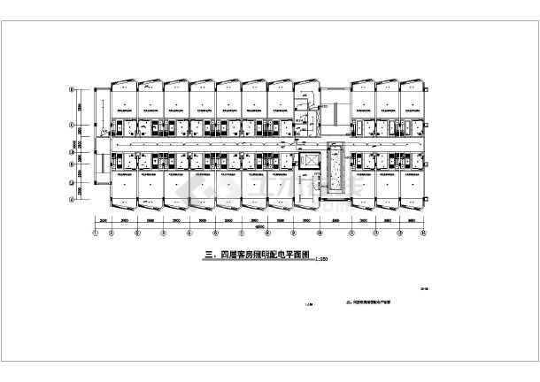 某六层照明客房机电设计cad酒店(含图纸设计)cad删除线多余的2004图片