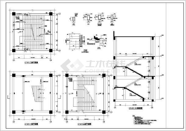 滑动支座楼梯结构图