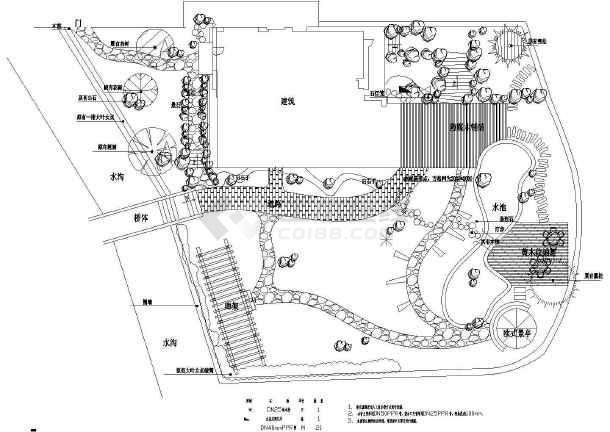 [青岛]某酒店室外别墅工程设计施工图放线总景观,定位包括,绿化灌溉奥平面南度假别墅图片
